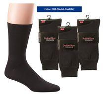 WOWERAT-Herren-Arbeits-Berufs-Socken, Business, mercerisiert, Pkg. á 3 Paar, schwarz