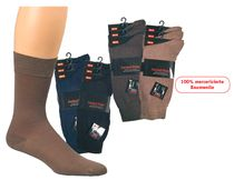 WOWERAT-Business-Socken, mercerisierter Baumwolle, 3-er Pkg., marine