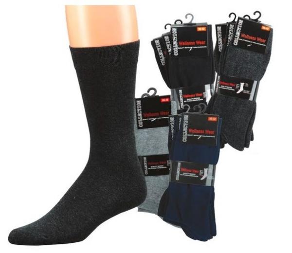 WOWERAT-Wellness-Herren-Arbeits-Berufs-Socken, Komfort, Pkg. á 3 Paar, anthrazitmelange