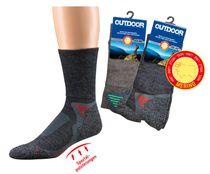 WOWERAT-Trekking-Arbeits-Berufs-Socken, Merinowolle, dunkeltaupe