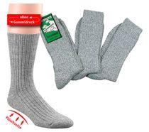 WOWERAT-Gesundheits-Arbeits-Berufs-Socken, mit Plüschsohl, Pkg. á 3 Paar, graumeliert