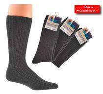 WOWERAT--Arbeits-Berufs-Socken, mit Wolle, Pkg. á 3 Paar, dunkelgrau
