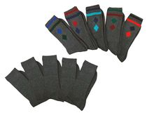 WOWERAT-COOLMAX Trekking-Socken, Kurzschaft-Form, Funktionssportsocken, mit Frotteesohle, marine