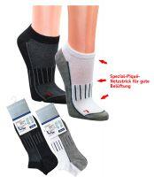 WOWERAT-COOLMAX Trekking-Socken, Kurzschaft-Form, Funktionssportsocken, mit Frotteesohle, schwarz