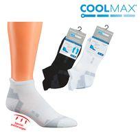 WOWERAT-COOLMAX, Sneaker-Sport-Arbeits-Berufs-Socken, 3er Pkg., schwarz
