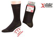 WOWERAT-Funktions-Socken mit X-Static Silberfaser, antimikrobiell, 2-er Pkg., schwarz