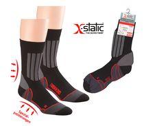 WOWERAT-Allround Sport- und Trekking-Socken mit X-Static Silberfaser, schwarz