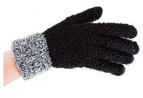 WOWERAT-Damen-Smartphone-Kuschel-Handschuhe, schwarz