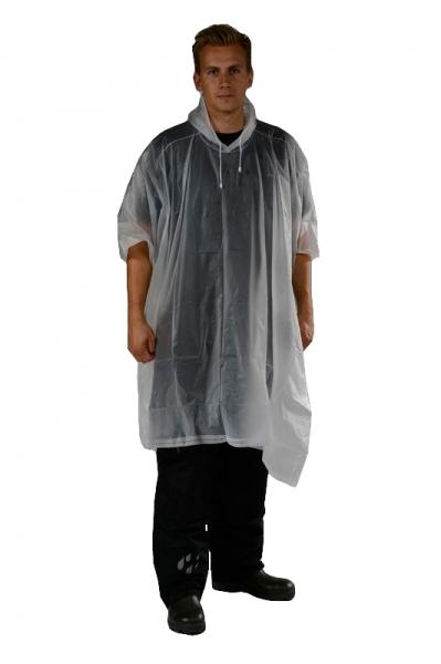 OCEAN-Regen-Nässe-Wetter-Schutz-Poncho, 50 Stück, transparent