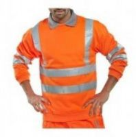 SSP-Warn-Schutz-Sweatjacke, High Visibility, orange