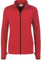 HAKRO-Women-Heavy-Fleece-Arbeits-Berufs-Jacke, Yukon, rot