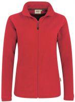 HAKRO-Women-Fleece-Arbeits-Berufs-Jacke, Delta, rot