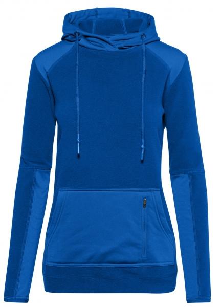 HAKRO-Damen-Kapuzen-Fleece-Arbeits-Berufs-Stretch-Jacke, Morris, 240 g / m², royalblau