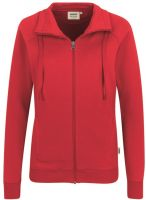 HAKRO-Women-Sweatjacke College, rot