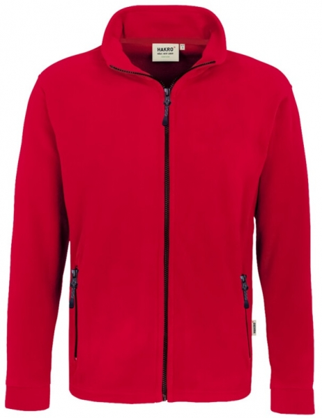 HAKRO-Fleece-Arbeits-Berufs-Jacke, Langley, rot