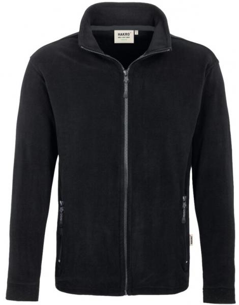 HAKRO-Fleece-Arbeits-Berufs-Jacke, Langley, schwarz