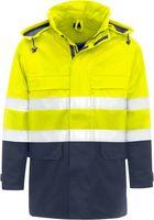 KIND-Multifunktions-Schutz, Warn-Arbeits-Berufs-Jacke, SUPRA, warngelb/navy