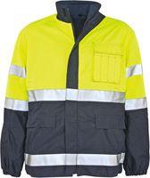 KIND-Multifunktions-Schutz, Arbeits-Berufs-Warn-Jacke, PROTECTA, warngelb/navy