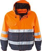 KIND-Warn-Schutz, Arbeits-Berufs-Kurz-Jacke, STARLINE LST, warnorange/navy