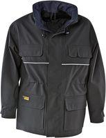 KIND-Wetter-Schutz, Regen-Nässe-Jacke, Outdoor- und Bewachungsjacke, ACCORD, schwarz