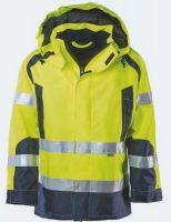 KIND-Warn-Schutz, Arbeits-Berufs-Jacke, REGENT, warngelb/navy