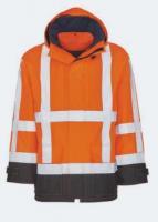KIND-Warn-Schutz, Arbeits-Berufs-Jacke, SCOPE, warnorange/schwarz