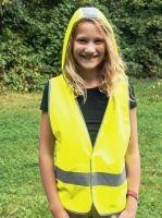 KORNTEX- Kinder-Warn-Schutz-Weste mit hoody, gelb