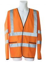 KORNTEX-Leichte Warn-Schutz-Jacke ohne Futter, orange
