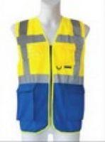 KORNTEX-Multi-Funktions-Warn-Schutz-Weste, gelb/blau