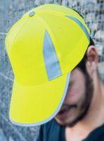 KORNTEX-Warn-Schutz-Fluo-reflective Cap, gelb