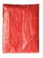 KORNTEX- Warn-Schutz-Einweg-Regen-Poncho, Sumatra, rot