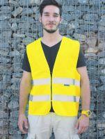 KORNTEX-Warn-Schutz-Weste Standard mit Reißverschluss, gelb