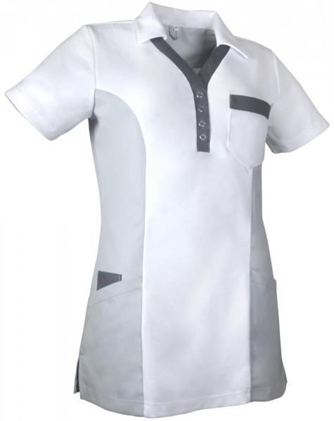 Teamdress-Service, Damen-Polokasack, weiß/grau/dunkelgrau