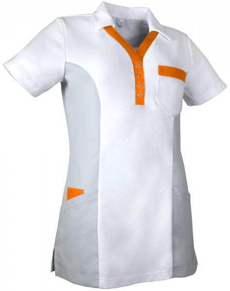 Teamdress-Service, Damen-Polokasack, weiß/grau/orange