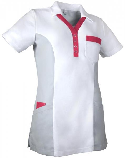 Teamdress-Service, Damen-Polokasack, weiß/grau/koralle