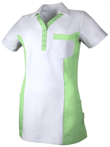 Teamdress-Service, Damen Polokasack, mit Brusttasche, weiß/grün