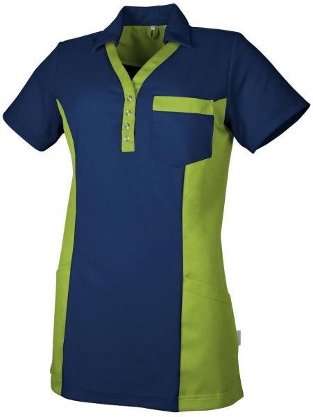 Teamdress-Service, Damen Polokasack, mit Brusttasche, marine/kiwi
