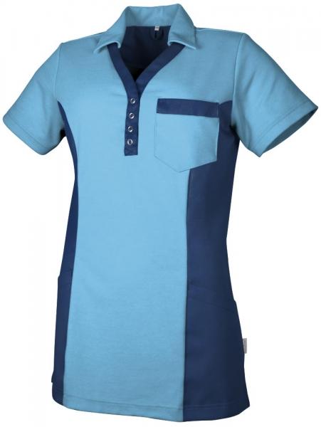 Teamdress-Service, Damen Polokasack, mit Brusttasche, azur/marine