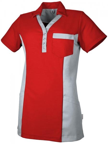 Teamdress-Service, Damen Polokasack, mit Brusttasche, rot/grau