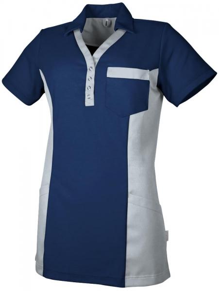 Teamdress-Service, Damen Polokasack, mit Brusttasche, marine/grau