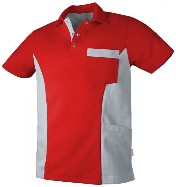 Teamdress-Service, Herren Polokasack, mit Brusttasche, rot/grau