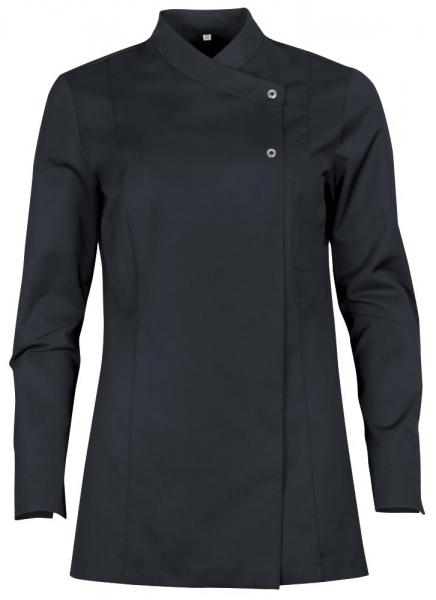 Teamdress-Service, Damen-Kochjacke mit Brusttasche, schwarz