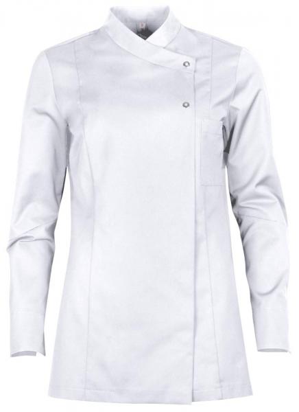 Teamdress-Service, Damen-Kochjacke mit Brusttasche, weiß