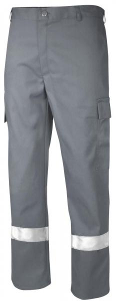 Teamdress-PSA, Schweißer/Hitzeschutz Antistatik, Bundhose mit Reflexstreifen, Kl. 1, grau
