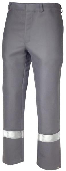Teamdress-PSA, Schweißer/Hitzeschutz Bundhose mit Reflexstreifen, Kl. 2, grau