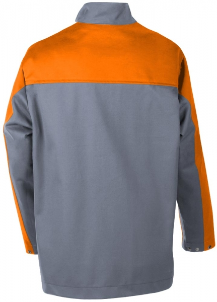 Teamdress-PSA, Gießerei/Schweißer-Jacke, EN ISO 11612, grau/orange