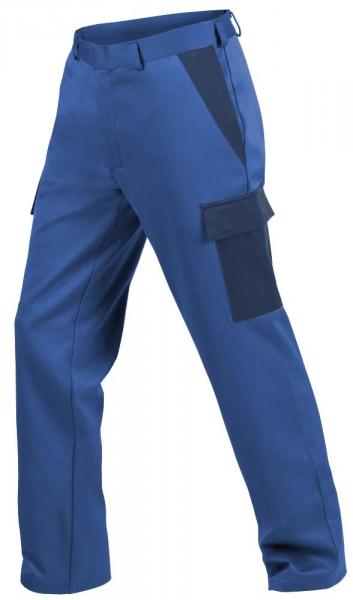 Teamdress-PSA, Gießerei/Schweißer-Bundhose mit Beintaschen, EN ISO 11612, kornblau/marine