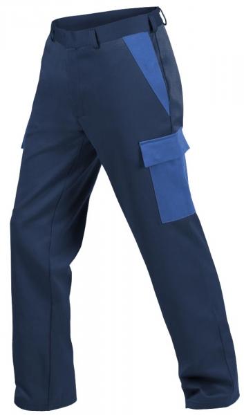 Teamdress-PSA, Gießerei/Schweißer-Bundhose mit Beintaschen, EN ISO 11612, marine/kornblau
