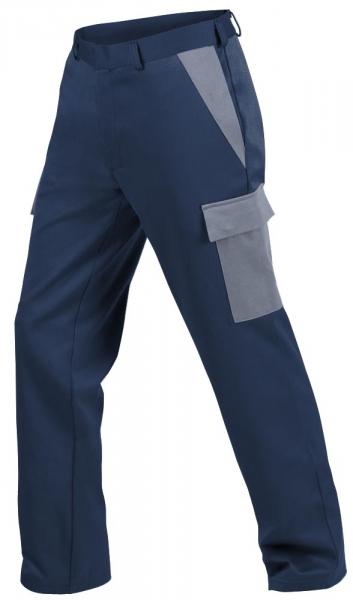 Teamdress-PSA, Gießerei/Schweißer-Bundhose mit Beintaschen, EN ISO 11612, marine/grau