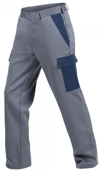 Teamdress-PSA, Gießerei/Schweißer-Bundhose mit Beintaschen, EN ISO 11612, grau/marine